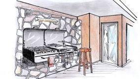 Barbecue da parete