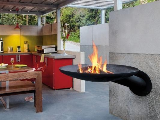 Barbecue da parete effetto fiaccola Sunfocus