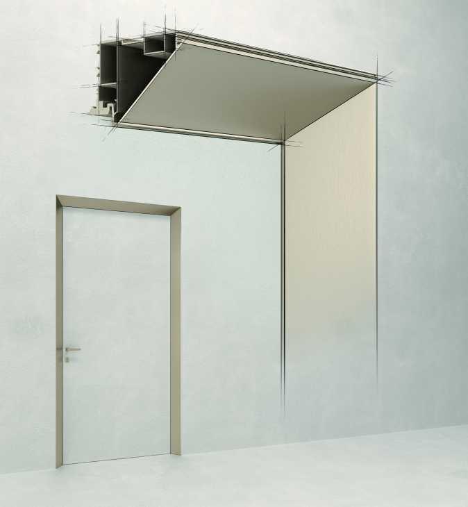 Dettaglio telaio porta ECLISSE 40 Collection