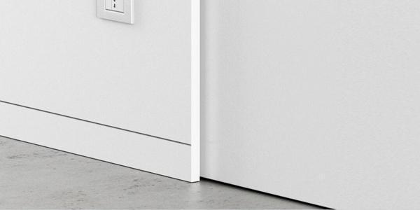 Nuove porte interne a filo muro for Battiscopa filo muro