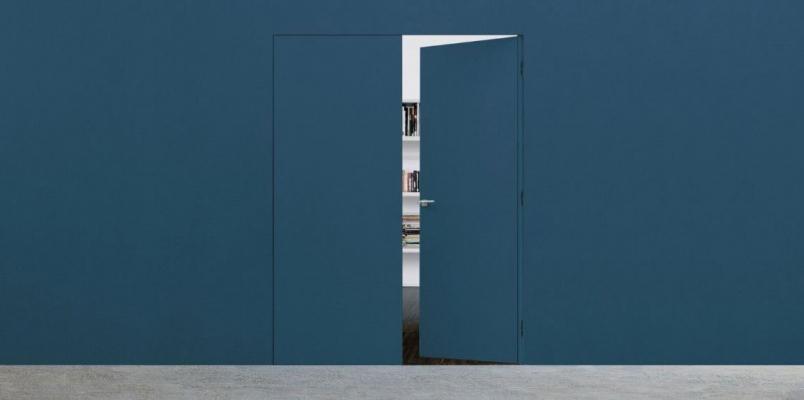 Porte interne filo muro di Eclisse, minimal e trendy