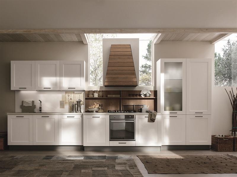 Cucina componibile modello City Mediterranea di Stosa in composizione lineare