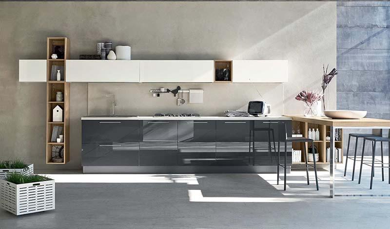 Cucina componibile Alevé di Stosa in composizione lineare