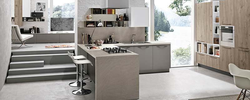 Cucina ad angolo modello Maya by Stosa