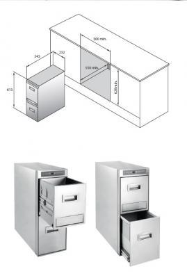 Contenitori raccolta differenziata: Texa, schema Ecobin 30