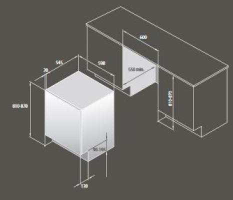 Contenitori raccolta differenziata: Texa, schema Ecobin 60