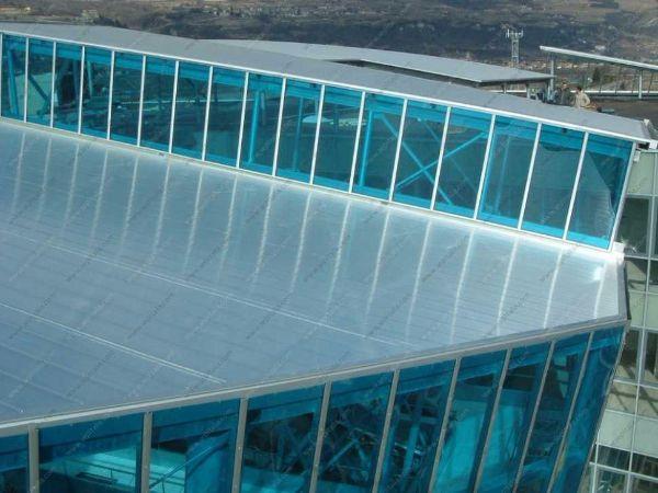 Pannelli in policarbonato in copertura di SEP