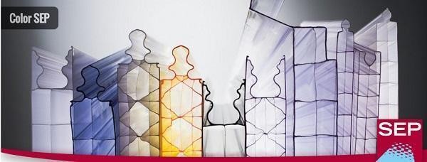 Pannelli in policarbonato colori e modelli di SEP