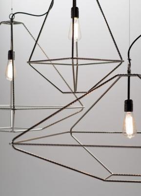 Lampade in metello stilizzate