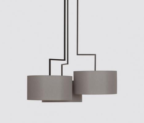 Lampade in metallo composizione dettaglio