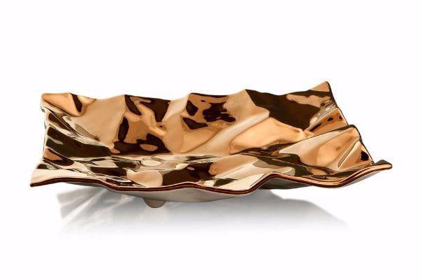 Centrotavola di ceramica e bronzo di Ahura