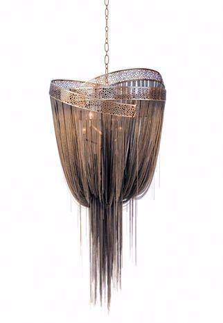 Lampada in bronzo sospesa di Baylar Atelier per Hudson Furniture