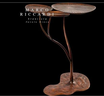 Tavolo in bronzo di Marco Riccardi