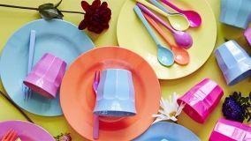 Servizi e accessori per la cucina e la tavola in melamina, silicone e pvc