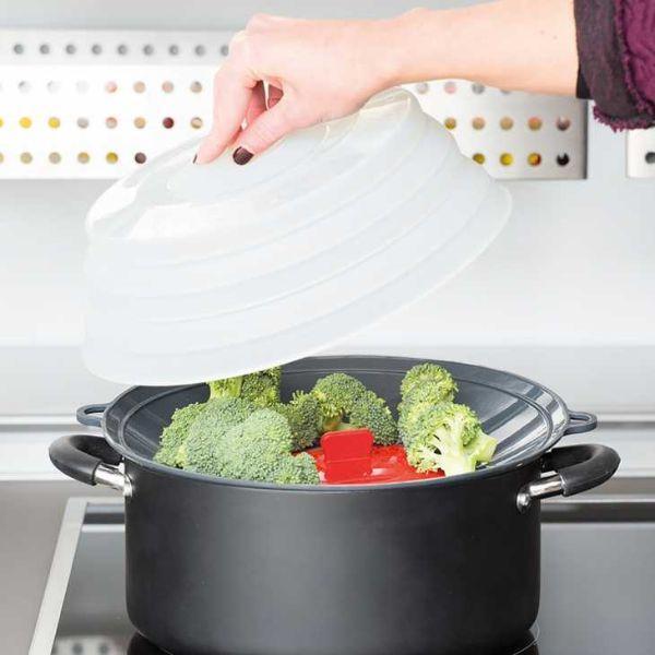 Coperchio e accessorio per cottura a vapore di Pavonidea.com