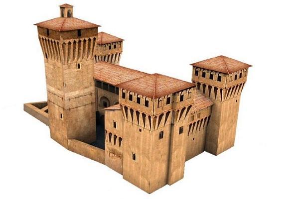 Castello delle Rocche realizzato con Papercraft