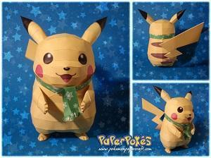 Pikachu realizzato con Papercraft