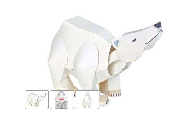 Orso realizzato con Papercraft, fonte Pinterest