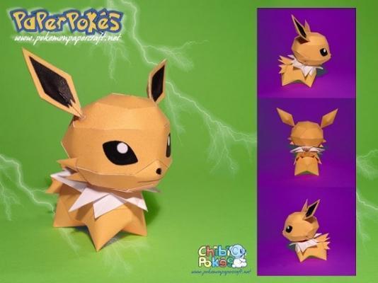 Pokémon Chibi realizzato con Papercraft