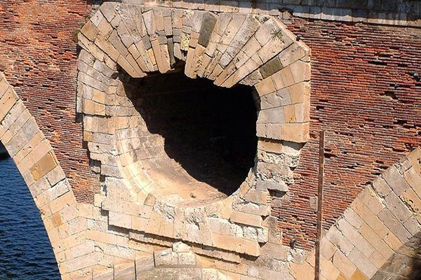 L'uso antico del laterizio in un ponte Romano