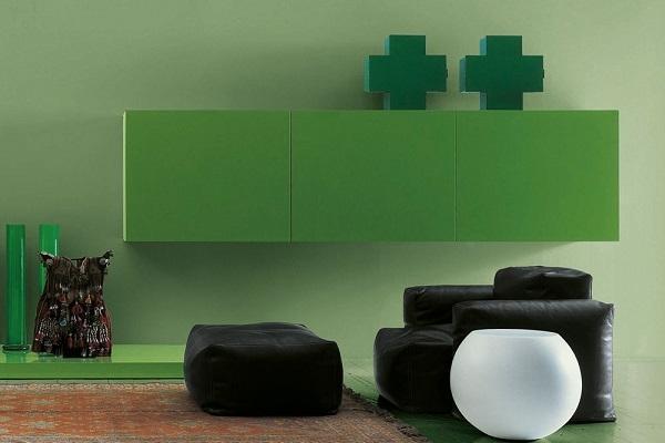 Cassetta Cross di Cappellini in tinta verde