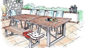 Zona pranzo da esterno