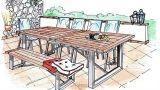 Allestire una attrezzata zona pranzo all'aperto