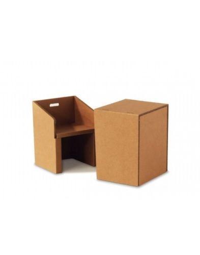 Sedia con tavolino in cartone su Ebay