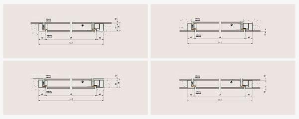 Dettagli costruttivi di porte blindate OIKOS in gres porcellanato