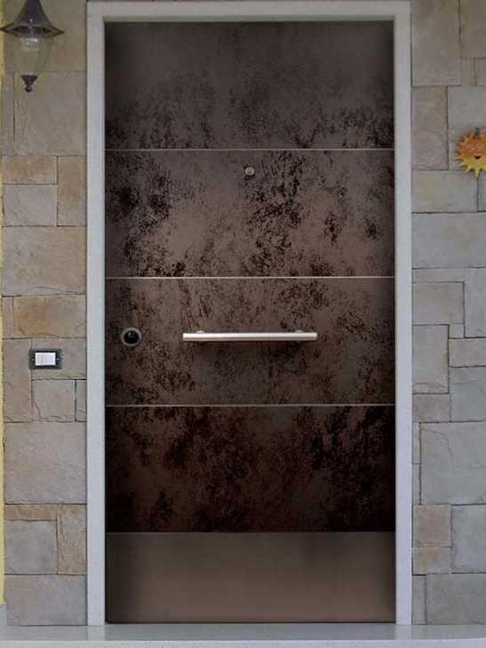 Porta blindata rivestita in gres dell'azienda FBS