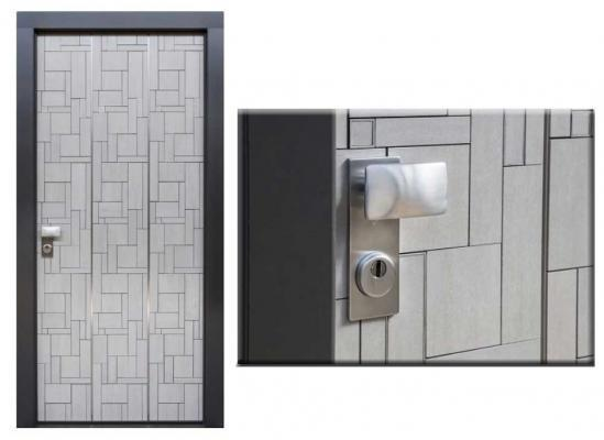 Creative porte blindate in gres porcellanato di Estetic Fer Style