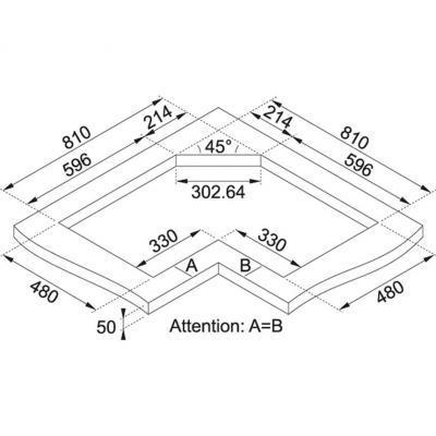 Piani cottura angolari for Dimensioni piano cottura