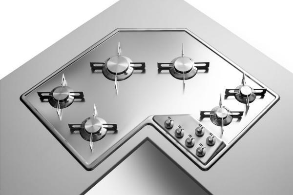 Piani cottura angolari for Piani cucina quadrati