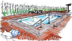 Pavimentazione bordo piscina
