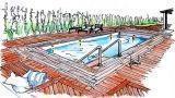 Il legno come materiale per realizzare la pavimentazione bordo piscina