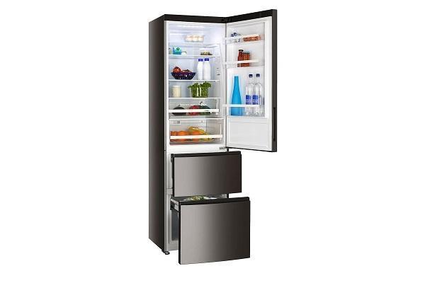 Congelatore a cassetti Haier nero aperto