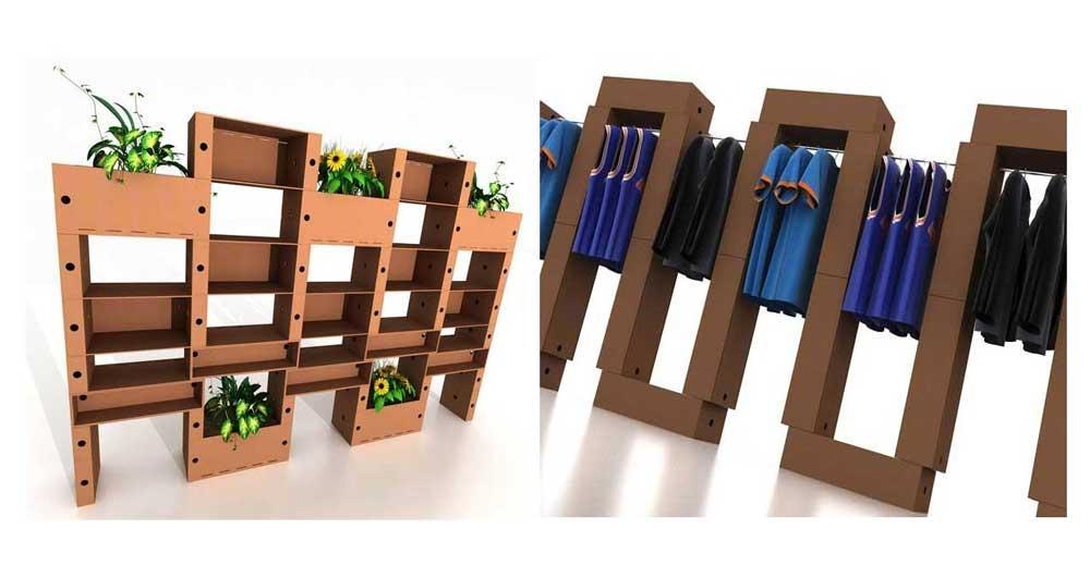 Foto mattoni in cartone for Arredi di cartone