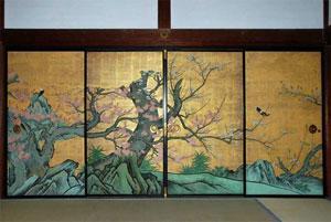 Raffigurazione dei fusuma, by kyoto.asanoxn.com
