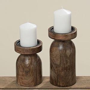 Candeliere Janina Mango in legno tornito