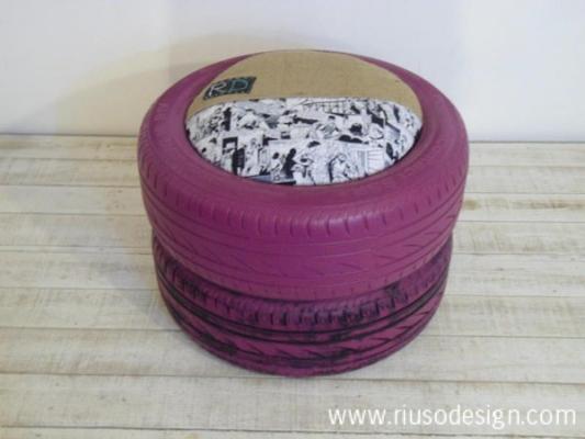 Pouf pneumatico di Riuso Design