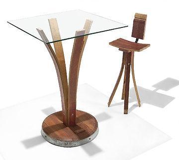 Set tavolo sedia in barrique di Curvin