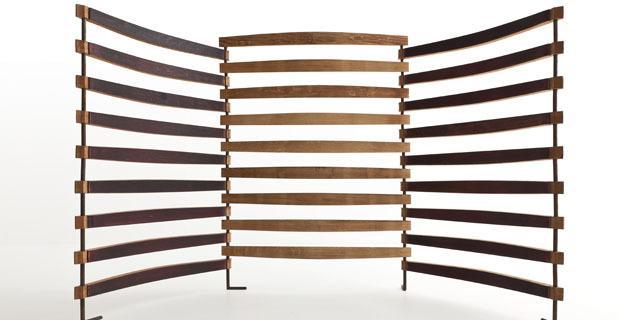 Paravento in barrique di San Patrignano Design Lab