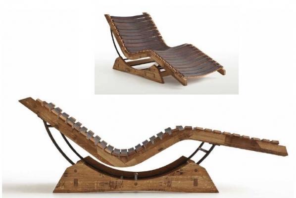 Chaise in barrique di San Patrignano Design Lab