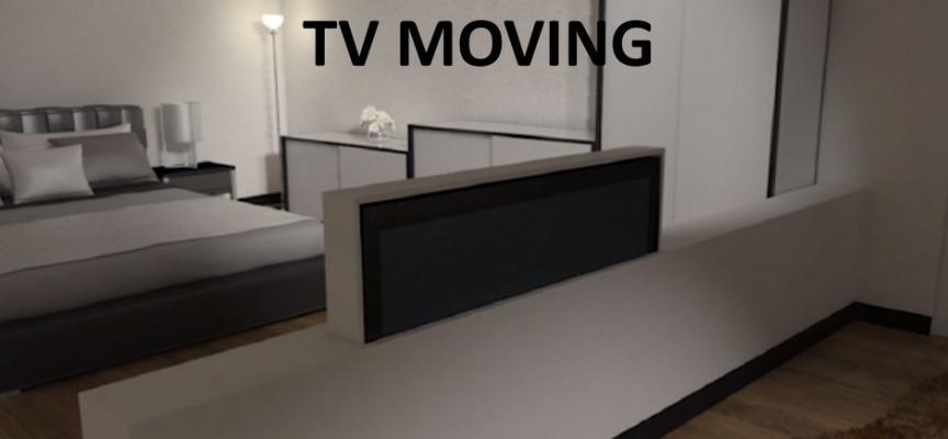 Staffa motorizzata Tv moving di Arredi Fiorelli