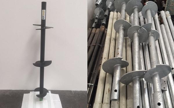 Tubi micropali in acciaio a elica discontinua, di SYStab