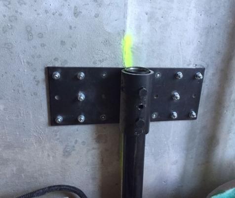 Dettaglio piastra di collegamento palo di SYStab