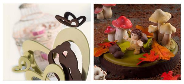 Stampi per oggetti tridimensionali in cioccolato di Martellato