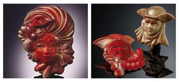 Stampi per maschere di cioccolato di Martellato