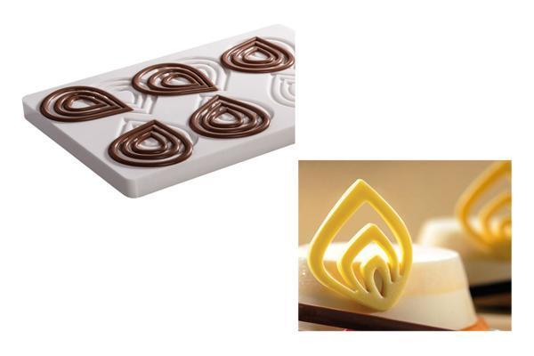 Stampi per decorazioni in cioccolato di Martellato