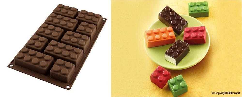 Stampo per mattoncini in cioccolato, by Silikomart